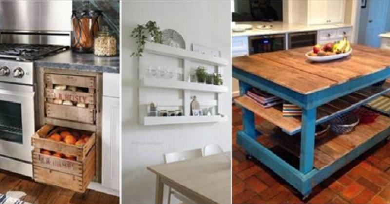 12 superbes id es pour d corer votre cuisine avec de vieilles caisses et du bois de palette. Black Bedroom Furniture Sets. Home Design Ideas