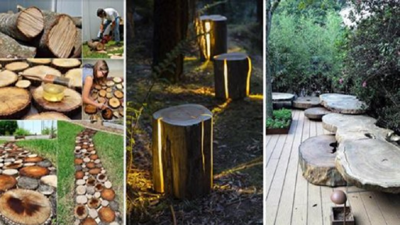 15 superbes façons de décorer votre jardin avec des troncs d ...